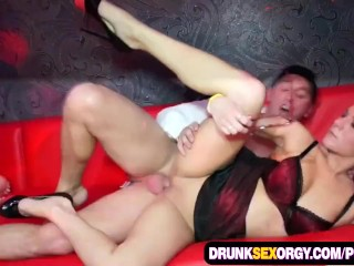 Crazy orgies at the group sex party