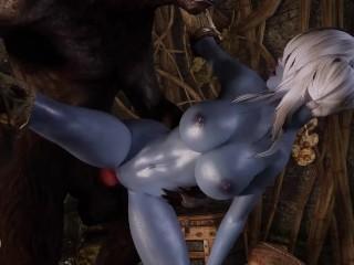 Sexy Blue Dovahkiin Pleasing Werewolf Cock Skyrim Porn