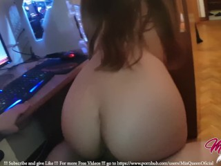 Little Teen Fucked Watching Hentai Lesbian Porn before Bed!!! - MiaQueen