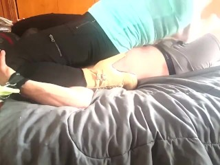 Adidas and High Heel Hard Trampling, Face Sitting, and Bed Jump Off Preview