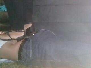 Sexy heels hard trampling
