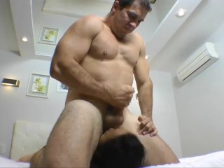 Male Facesitting, Facefucking and Trampling a Slavegirl