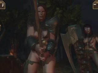 Goddess of Trampling 1 Giantess Pussy Breast crush goddess pissing Amazons