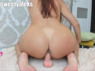 pussy ride big dildo