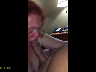 Cute Blowjob by RedHead Granny