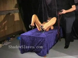 Bizarre rough sextoy domination of blondy Crystel Lei in medical fetish