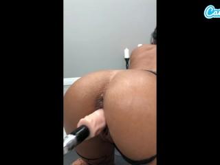 CamSoda- Teen Latina Sisters Fucked By Fucking Machine On The Bondage Board
