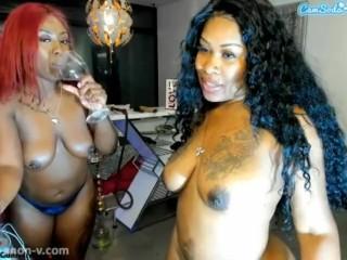 Jamacian Stripper and Her homie Ivy on CamSoda