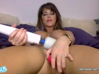 CamSoda - MILF Emily Addison Orgasms with her Masturbation Toys