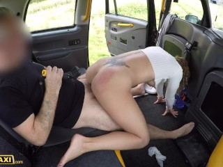 Fake Taxi Golden showers from Victoria May for dirty cab driver