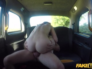 Fake Taxi American foxy redhead fucked in UK taxi