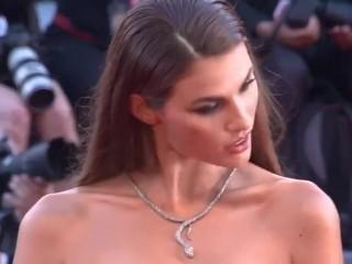 Italian models open dress upskirt