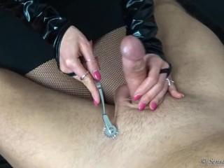 Sensual Jasmine - sex toys fetish handjob #1 - BDSM - CFNM - Femdom - Cock