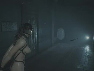 Resident Evil 2 Mods Gameplay - Nude BDSM Claire, Ada Zombies, Mr X Thong