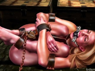 Perfect Slave Dungeon Bondage Orgasm BDSM artworks and cartoons compilation