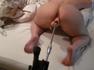 HOT WIFE CUMS HARD! - DOGGY FUCK - FUCK MACHINE - LOUD ORGASM