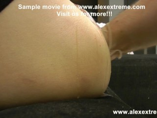 Sexy Sasha anal prolapse pussy full of balls and AlexThorn fist in ass