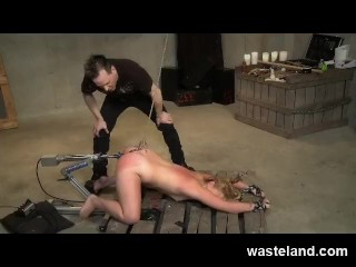 BDSM Master DP Punishes Submissive With Anal Hook and Fucking Machine