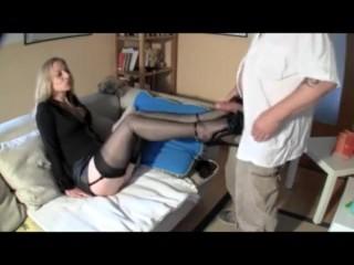 Hot Wife Sexy Nylon Legs High Heel Job - Heelslovers@pornhub