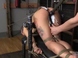 Ass Up Fixed Gina Valentina - DungeonCorp BDSM - Bent and Split
