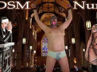 BDSM pissing slave man. Femdom Bondage male peeing urine undewear & Cumshot