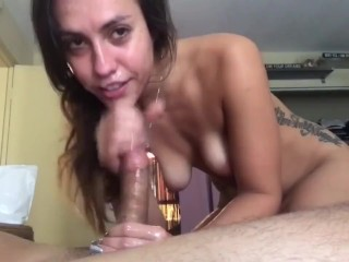 SLOPPY BLOWJOB FROM A BLONDE COLLEGE STUDENT