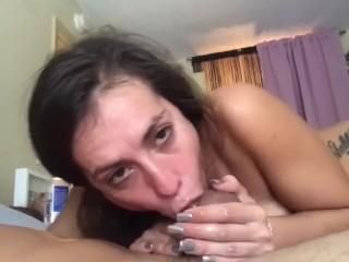 KELSI MONROE POV Sloppy Blowjob From Your Big Tits Latina Neighbor