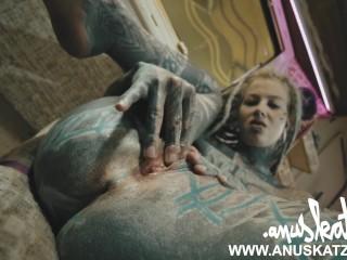 Public Festival fuck - Tattoo BDSM couple bj pussy sextoy orgasm cumshot