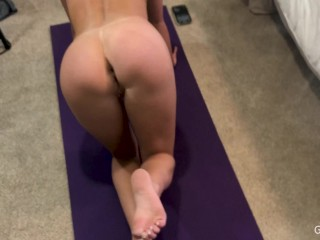 Genuine Nude Butt Workout - Endurance Cum Challenge - Did You Last?