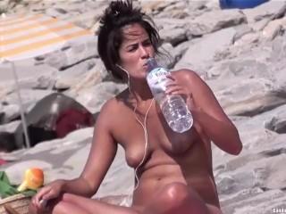 Sexy Nudist Teens Beach Voyeur Spycam HD Video