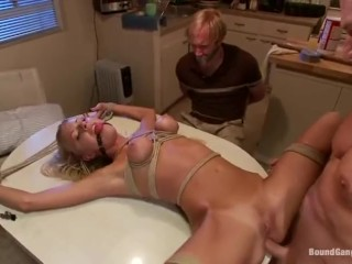 Fuck cute blondie star in ass - anal with bdsm enjoy