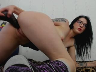 Big Black Cock Destroys My Tight Pussy