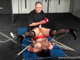 Enslaved milfs pussy hot waxing and extreme bbw bdsm of amateur slavegirl