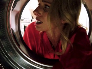 Fucking My Step Mom in the Ass while She is Stuck in the Dryer - Cory Chase