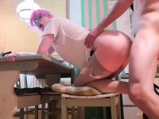 Serbian amateur gets fucked hard. Anal hardcore. POV blowjob/cumshot