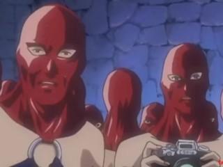 UNCENSORED - crazy Hentai BDSM gangbang in prison