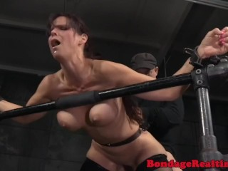 Gorgeous girl involved in dirty BDSM games