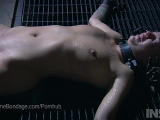 Real dripping water torment in BDSM live show