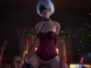 2B Xmas Riding (Animation W/Sound)
