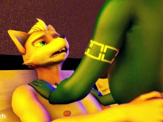 Foxxes Making Love Furry Yiff (Animation)