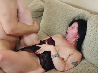 Old hairy granny sex porn with dude.