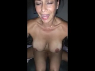 Husband records his wife sucks stranger's cock and swallows cum