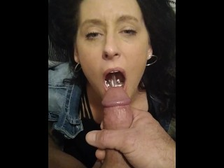 Face fucking my wife and making her drink my piss