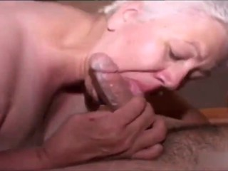 Grandma fast blowjob handjob for cum