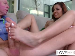 Vanna Bardot wants her stepdad to fuck her sexy feet