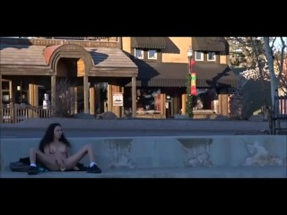 public masturbation in extremely public location