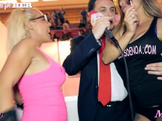 Ayesa and Maria suck a lollipop and show their tits for Andrea Diprè