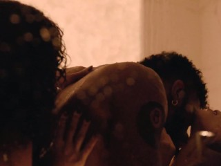 Celebrities Andrea Londo & Lex Scott Davis Hot Threesome - Superfly (2018)