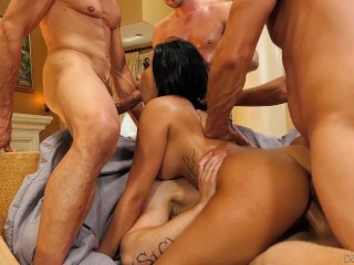 Devils Gangbangs Aaliyah Hadid Rough DP Crazy Fuck - FULL SCENE
