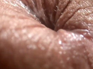 Beautiful girl with nice ass anal fingering close up